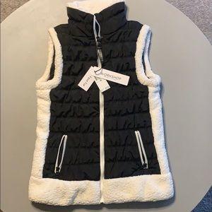 Workshop Republic Clothing Faux Fir Vest. NWT!